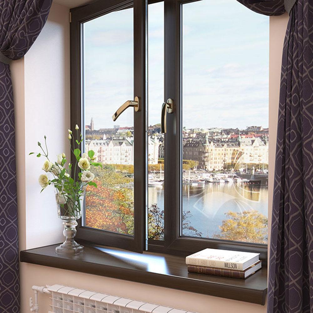 Древо-алюминиевые окна